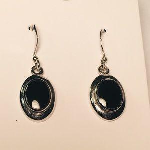Jewelry - 4 for $12: Simple Black & Silver Earrings
